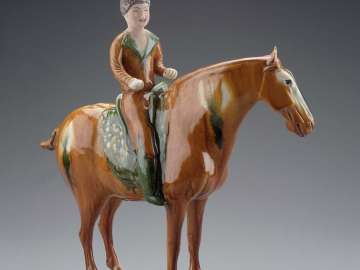 Palace lady on horseback