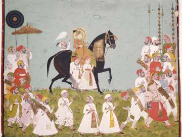 Maharaja Raj Singh of Mewar in Procession