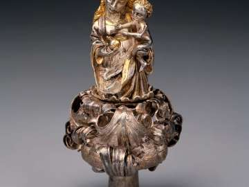 Finial in the Shape of the Virgin and Child