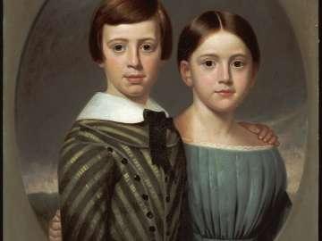 John Oscar Kent and His Sister, Sarah Eliza Kent