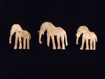 Ivory inlay of an elephant