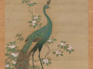Peacock and Peach Blossoms