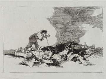 Para eso habeis nacido. (This is what you were born for); Fatales consequencias de la sangrienta guerra en España con Buonaparte. Y otros caprichos enfaticos [Disasters of War], plate 12.