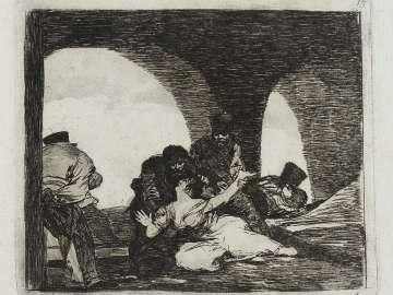 Amarga presencia. (Bitter presence); Fatales consequencias de la sangrienta guerra en España con Buonaparte. Y otros caprichos enfaticos [Disasters of War], plate 13.