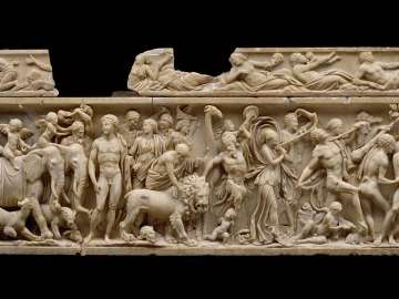 Sarcophagus with triumph of Dionysos