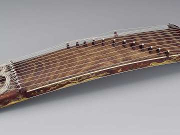Miniature zither (koto)
