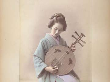 Woman Playing a Moon Zither (Gekkin)