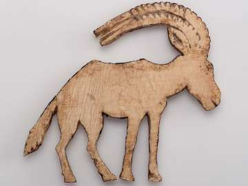 Inlay of an ibex