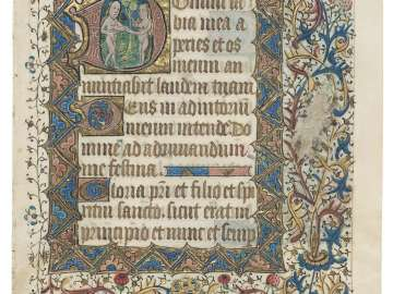 Leaf from a Book of Hours