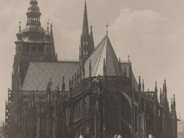 The Side of the Cathedral of Saint Vitus seen from Saint Georges Church from the portfolio Svàty Vit (Saint Vitus)
