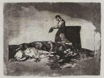 Cruel lástima.! (Cruel tale of woe.!); Fatales consequencias de la sangrienta guerra en España con Buonaparte. Y otros caprichos enfaticos [Disasters of War], plate 48.