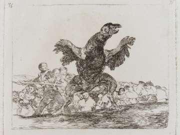 El buitre carnívoro. (The carnivorous vulture); Fatales consequencias de la sangrienta guerra en España con Buonaparte. Y otros caprichos enfaticos [Disasters of War], plate 76.