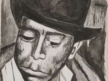 Portrait of a Man Wearing a Fedora