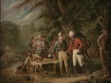 General Francis Marion Inviting A British Officer to Share His Meal or The Swamp Fox