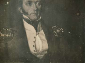Painted Portrait of a Man in Uniform