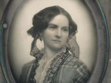 Unknown Lady (Plaid Silk Waist)