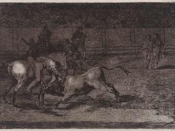 Mariano Ceballos, alias el Indio, mata el tot desde su caballo. (Mariano Ceballos, called
