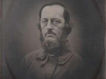 Bearded Man, in Oval Vignette