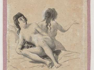 Two Young Women Naked on a Bed