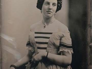 Woman in Striped Bodice