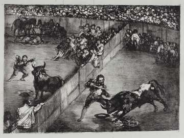 Bullfight in a Divided Ring; from the so-called