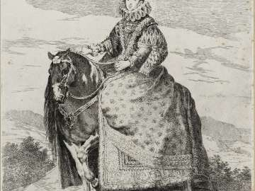 Margarita de Austria, Queen of Spain, on Horseback