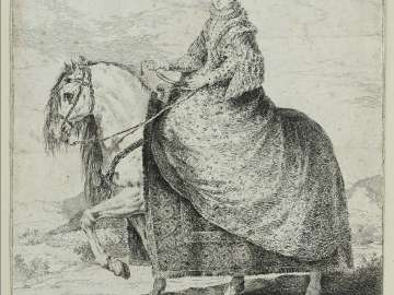 Isabel de Borbón, Queen of Spain, on Horseback