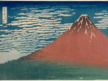 Fine Wind, Clear Weather (Gaifû kaisei), also known as Red Fuji, from the series Thirty-six Views of Mount Fuji (Fugaku sanjûrokkei)