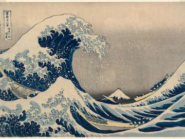 Under the Wave off Kanagawa (Kanagawa-oki nami-ura), also known as the Great Wave, from the series Thirty-six Views of Mount Fuji (Fugaku sanjûrokkei)