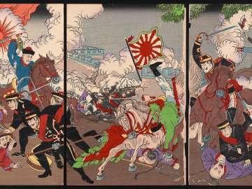 Great Sino-Japanese Battle at Fenghuangcheng (Hôôjô Nisshin dai gekisen no zu)
