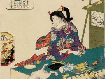 The Daughter of Dainagon Yukinari, from the series Lives of Wise and Heroic Women (Kenjo reppu den)