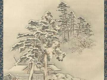 Shinto Shrine In Snow