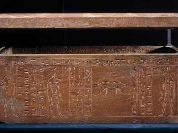 Sarcophagus Of Queen Hatshepsut Recut For Her Father