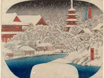 Asakusa in Snow (Asakusa no yuki), from the series Famous Places in Edo (Edo meisho)