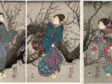 Plum Blossoms at Night (Yoru no ume)