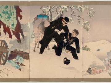 The Occupation of the Fortress at Niuzhuang: The Battle of Lieutenant Colonel Imada (Gyûsôjô senryô: Imada chûsa sentô no zu)