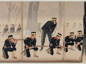 Battle at Jinzhoucheng on the Road to Port Arthur (Ryojun michi Kinshûjô sen)