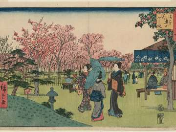 Flower Garden in the Inner Precincts at Asakusa (Asakusa okuyama hanayashiki), from the series Famous Places in Edo (Edo meisho)