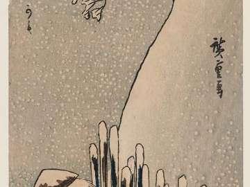 Winter: Snow on the Sumida River (Fuyu, Sumidagawa no yuki), from the series Famous Views of Edo in the Four Seasons (Shiki Kôto meisho)