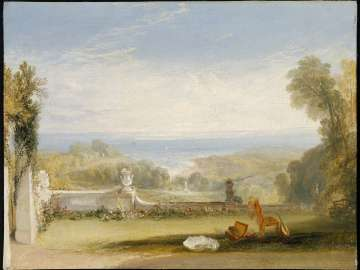 View from the Terrace of a Villa at Niton, Isle of Wight, from Sketches by a Lady
