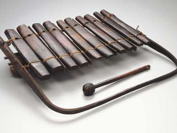 Xylophone (mbila) and one mallet