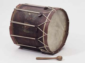 Bass drum and mallet