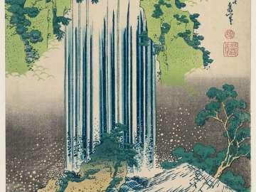 The Care-of-the-aged Falls in Mino Province (Mino no kuni Yôrô no taki), from the series A Tour of Waterfalls in Various Provinces (Shokoku taki meguri