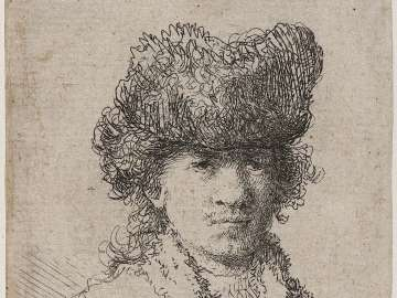 Self Portrait in a Fur Cap: Bust
