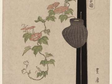 Morning Glories in a Hanging Basket, from the series Flower Arrangements by Various Modern Schools (Tôsei shoryû ikebana zu)