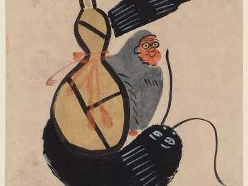 Ôtsu-e: Monkey, Catfish and Gourd