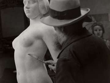 Aristide Maillol at Work on L'Ile de France
