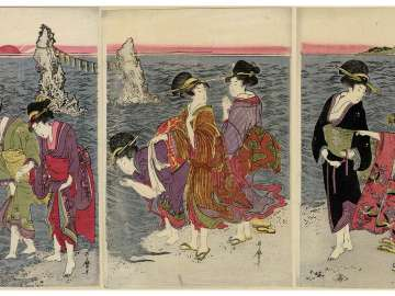 Women on the Beach at Futami-ga-ura