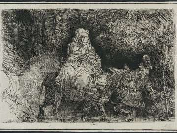 The Flight into Egypt: Crossing a Brook