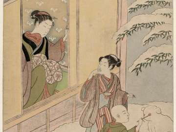 The Twelfth Month, from the series Popular Customs and the Poetic Immortals in the Four Seasons (Fûzoku shiki kasen)